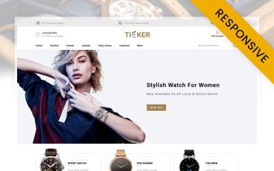 Ticker - Watch Store OpenCart Template