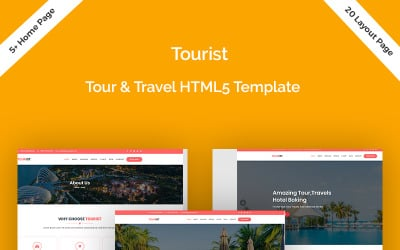 Tourist - Trous, Travels & Hotel Booking Website Template