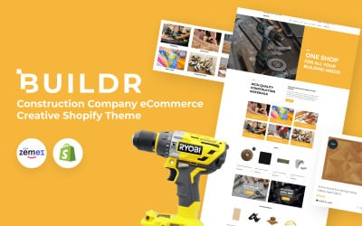 BUILDR - Construction Company eCommerce Creative Shopify Theme
