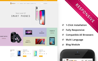 Cyrus - The Electronic Store Responsive OpenCart Template