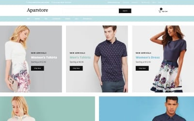 Aparstore - Clothing Multipage Modern OpenCart Template