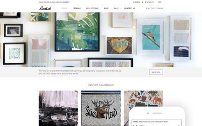 Artista - Tema limpio de Shopify para comercio electrónico de la galería de arte