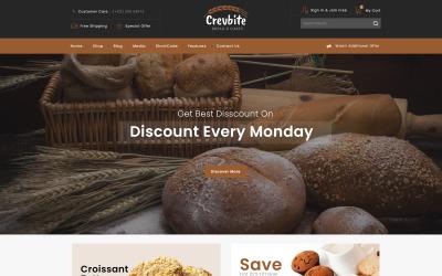 Crevbite - Bakkerij- en chocolaterie WooCommerce-thema