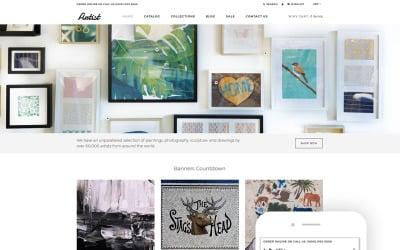 Künstler - Kunstgalerie eCommerce Clean Shopify Theme