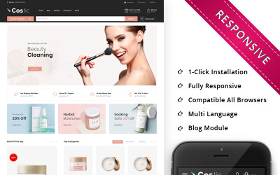Costic - The Cosmetic Shop Responsive OpenCart Template