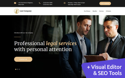Law Company Landing Page Template