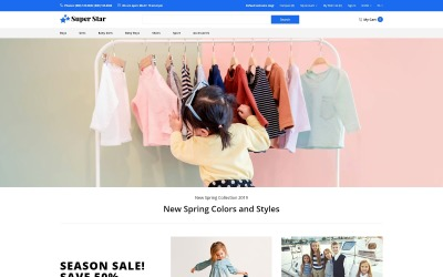 Super Star - Kids Fashion Store Clean OpenCart Template
