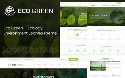 Еко зелений - навколишнє середовище, екологія та поновлювані джерела енергії Joomla шаблон