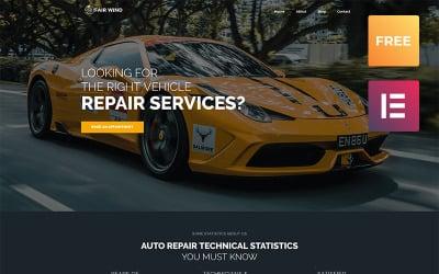 Fair Wind lite - Car Repair Modern WordPress Elementor Theme