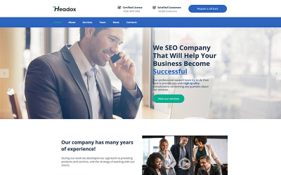 Headox - Consulting Services Moto CMS HTML Template