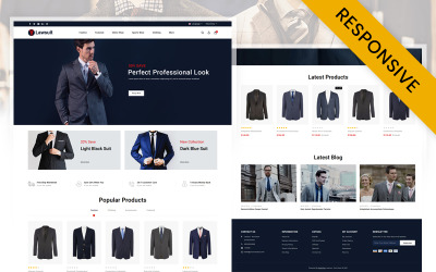 Lawsuit - Suits Store OpenCart Template