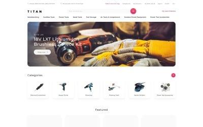 Titan - Tools Store Clean OpenCart Template