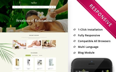 Spazone - The Massage Parlour Responsive OpenCart Template