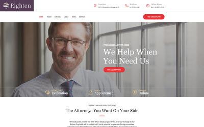 Righten - Advisory Moto CMS HTML Template