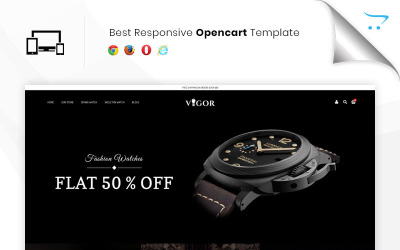 Vigor - The Watch Store Responsive OpenCart Template