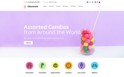 Chocotch - Candy Store MotoCMS Ecommerce Template