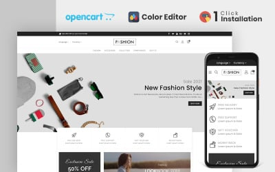 Fashion Clothing and Accessories Store OpenCart Template
