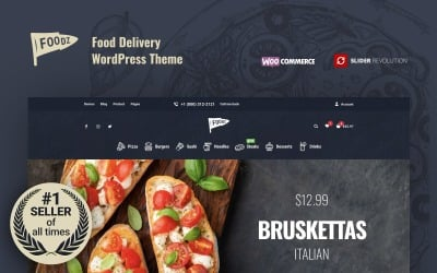Foodz - Pizza, Sushi, Fast Food Lieferung & Restaurant WooCommerce Theme