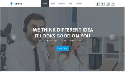 Unique- Multipurpose Business And Agency Muse Template