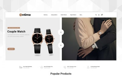 OnTime - Watch Store OpenCart Template