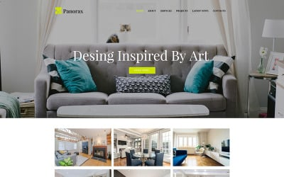 Panorax - Interiördesign Moto CMS HTML-mall