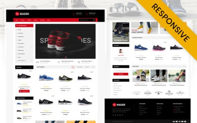 Wader Sports Shoes Store OpenCart Template