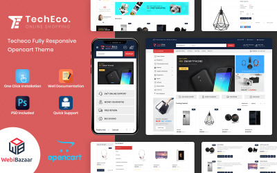 Techeco - The Shopping Mall OpenCart-sjabloon