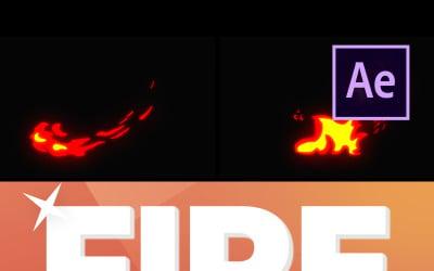 Cartoon Feuerelemente After Effects Intro