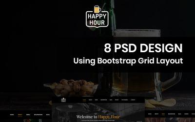 Happy Hour - Pub PSD sablon