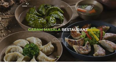 Šablona PSD restaurace Garam Masala
