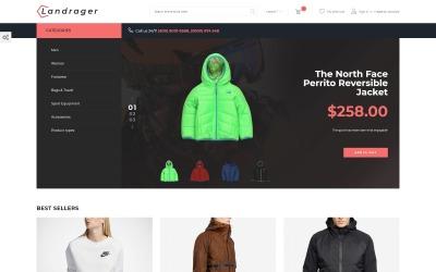 Landrager - Тема Magento для електронної комерції з питань екстриму та відпочинку на відкритому повітрі