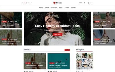 Ugliness - Modèle PSD de blogueur d'actualités et de magazines
