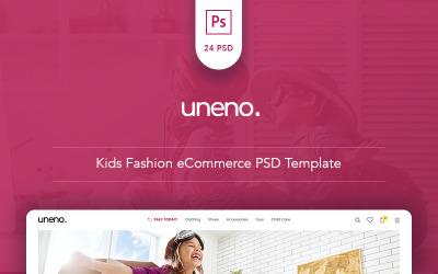 Uneno - Modelo PSD de eCommerce Kids Fashion