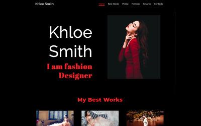 Khloe Smith - Personal Portfolio Resume Landing Page Template