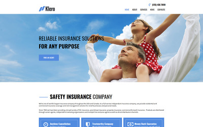 Klero - Plantilla HTML para servicios de seguros Moto CMS