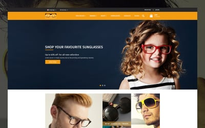 Knight Goggles and Sunglasses Store OpenCart Template