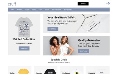 Cruff - T-shirt Multipage Modern OpenCart Template