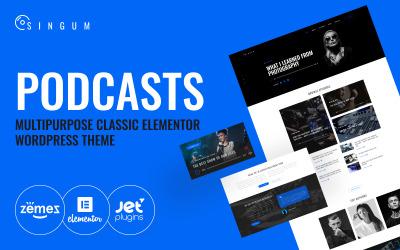 Singum - Podcaster Multipurpose Classic WordPress Elementor Theme