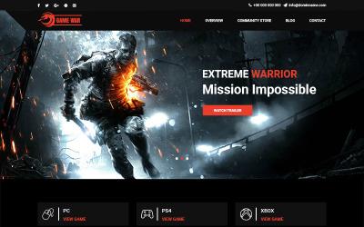Game War - modelo PSD do portal de jogos