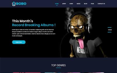 Bobo Music - Müzik Mağazası PSD Şablonu