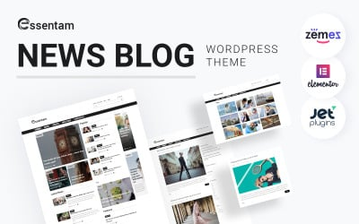 Essentam - News Blog Multipurpose Classic WordPress Theme