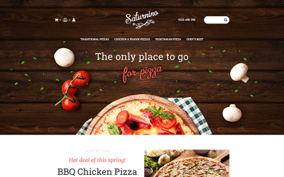 Saturnino - Pizza MotoCMS Ecommerce Template