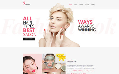 Glosstyle - Beauty Salon Moto CMS HTML Template