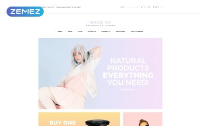 Make Up - Cosmetic store Multipage Clean OpenCart Template