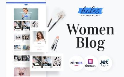 Holes - Women Blog Multipurpose Classic WordPress Elementor Theme