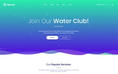 Aquareal - Bottled Water Delivery WordPress Theme