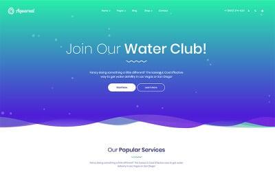 Aquareal - Thème WordPress pour la livraison d'eau en bouteille