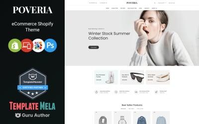 Poveria - modebutik Shopify-tema