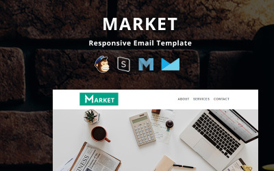 Market - Corporate Responsive Email Newsletter Template
