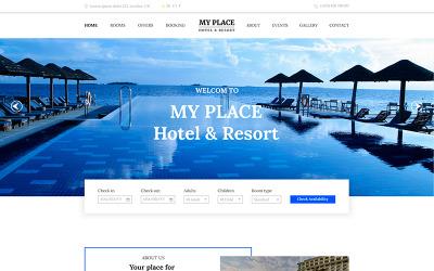 Моє місце   Hotel & Resort PSD шаблон